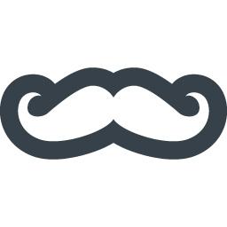 おしゃれヒゲのアイコン素材 2 商用可の無料 フリー のアイコン素材をダウンロードできるサイト Icon Rainbow