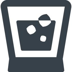 氷の入ったお酒のアイコン素材 商用可の無料 フリー のアイコン素材をダウンロードできるサイト Icon Rainbow