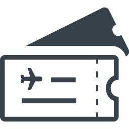 航空券 チケットのフリーアイコン素材 商用可の無料 フリー のアイコン素材をダウンロードできるサイト Icon Rainbow