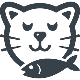 魚クンクンの猫の無料イラストアイコン素材 商用可の無料 フリー のアイコン素材をダウンロードできるサイト Icon Rainbow
