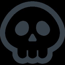しゃれこうべのフリーアイコン素材 1 商用可の無料 フリー のアイコン素材をダウンロードできるサイト Icon Rainbow