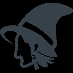 魔女の横顔の無料アイコン素材 1 商用可の無料 フリー のアイコン素材をダウンロードできるサイト Icon Rainbow