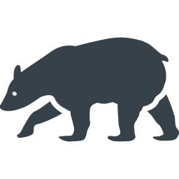 クマのシルエットフリーアイコン素材 1 商用可の無料 フリー のアイコン素材をダウンロードできるサイト Icon Rainbow