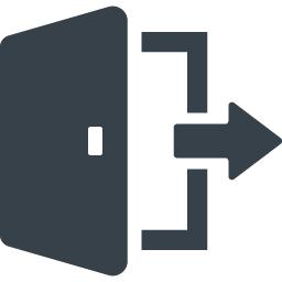 ログアウト サインアウトのアイコン素材 4 商用可の無料 フリー のアイコン素材をダウンロードできるサイト Icon Rainbow