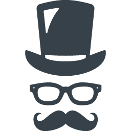 紳士の変装セットの無料アイコン素材 商用可の無料 フリー のアイコン素材をダウンロードできるサイト Icon Rainbow