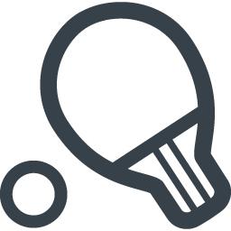 卓球のラケットの無料アイコン素材 2 商用可の無料 フリー のアイコン素材をダウンロードできるサイト Icon Rainbow