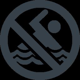 遊泳禁止マークの無料アイコン素材 商用可の無料 フリー のアイコン素材をダウンロードできるサイト Icon Rainbow