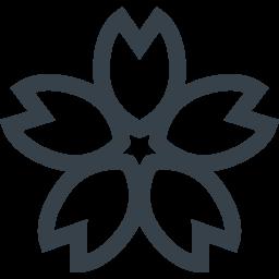 桜の花びらのフリーアイコン素材 2 商用可の無料 フリー のアイコン素材をダウンロードできるサイト Icon Rainbow