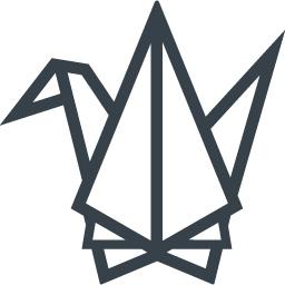 折り紙の折鶴の無料アイコン素材 1 商用可の無料 フリー のアイコン素材をダウンロードできるサイト Icon Rainbow