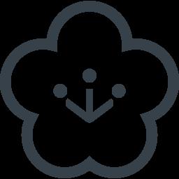 梅の花の無料アイコン素材 2 商用可の無料 フリー のアイコン素材をダウンロードできるサイト Icon Rainbow