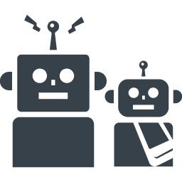親子のロボットアイコン素材 商用可の無料 フリー のアイコン素材をダウンロードできるサイト Icon Rainbow