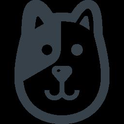 黒ブチの犬の無料アイコン素材 商用可の無料 フリー のアイコン素材をダウンロードできるサイト Icon Rainbow