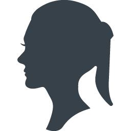 女性の横顔のシルエットアイコン 2 商用可の無料 フリー のアイコン素材をダウンロードできるサイト Icon Rainbow