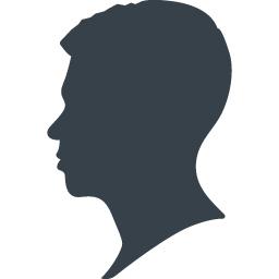 男性の横顔シルエットアイコン 1 商用可の無料 フリー のアイコン素材をダウンロードできるサイト Icon Rainbow