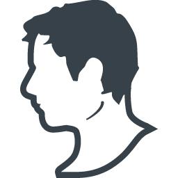 ヨーロッパあたりの西洋人の横顔アイコン素材 2 商用可の無料 フリー のアイコン素材をダウンロードできるサイト Icon Rainbow