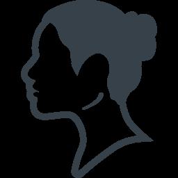 女性の横顔のシルエットアイコン 3 商用可の無料 フリー のアイコン素材をダウンロードできるサイト Icon Rainbow