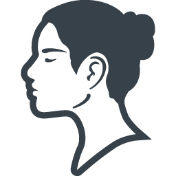 目を閉じている女性の横顔アイコン素材 1 商用可の無料 フリー のアイコン素材をダウンロードできるサイト Icon Rainbow