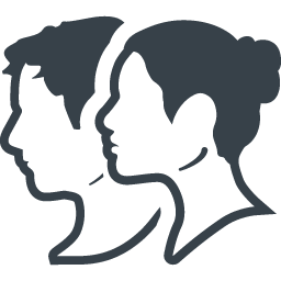 横顔のカップルアイコン素材 商用可の無料 フリー のアイコン素材をダウンロードできるサイト Icon Rainbow