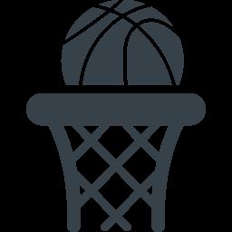 バスケットゴールとボールの無料アイコン素材 商用可の無料 フリー のアイコン素材をダウンロードできるサイト Icon Rainbow