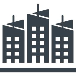 都会のビルの無料アイコン素材 商用可の無料 フリー のアイコン素材をダウンロードできるサイト Icon Rainbow