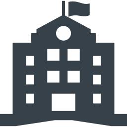 学校 施設の建物アイコン素材 2 商用可の無料 フリー のアイコン素材をダウンロードできるサイト Icon Rainbow