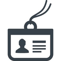 身分証 名札の無料アイコン素材 3 商用可の無料 フリー のアイコン素材をダウンロードできるサイト Icon Rainbow