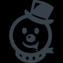 デンジャラスな雪だるまのアイコン素材 商用可の無料 フリー のアイコン素材をダウンロードできるサイト Icon Rainbow