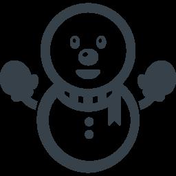マフラーと手袋をした雪だるまのアイコン素材 商用可の無料 フリー のアイコン素材をダウンロードできるサイト Icon Rainbow