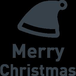 サンタの帽子とクリスマスの文字のアイコン素材 商用可の無料 フリー のアイコン素材をダウンロードできるサイト Icon Rainbow