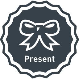 プレゼント用のリボンのマークアイコン素材 1 商用可の無料 フリー のアイコン素材をダウンロードできるサイト Icon Rainbow