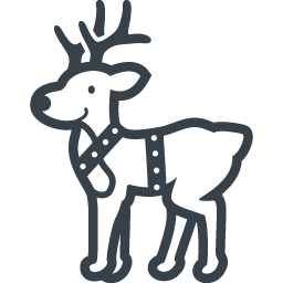クリスマスのトナカイの無料イラストアイコン素材 1 商用可の無料 フリー のアイコン素材をダウンロードできるサイト Icon Rainbow