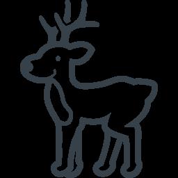 クリスマスのトナカイの無料イラストアイコン素材 2 商用可の無料 フリー のアイコン素材をダウンロードできるサイト Icon Rainbow