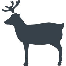 鹿の横シルエット無料素材 商用可の無料 フリー のアイコン素材をダウンロードできるサイト Icon Rainbow