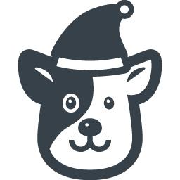 サンタの帽子をかぶった犬の無料アイコン素材 商用可の無料 フリー のアイコン素材をダウンロードできるサイト Icon Rainbow