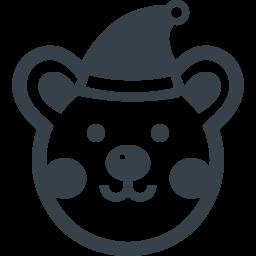 サンタの帽子をかぶったクマさんの無料アイコン素材 商用可の無料 フリー のアイコン素材をダウンロードできるサイト Icon Rainbow