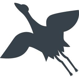 鶴のシルエットアイコン素材 商用可の無料 フリー のアイコン素材をダウンロードできるサイト Icon Rainbow
