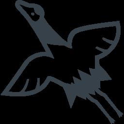 鶴のイラストアイコン素材 商用可の無料 フリー のアイコン素材をダウンロードできるサイト Icon Rainbow