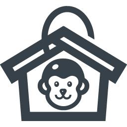 お正月 絵馬と猿のイラスト 無料アイコン素材 商用可の無料 フリー のアイコン素材をダウンロードできるサイト Icon Rainbow