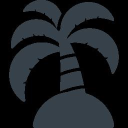 ヤシの木の無人島アイコン素材 1 商用可の無料 フリー のアイコン素材をダウンロードできるサイト Icon Rainbow