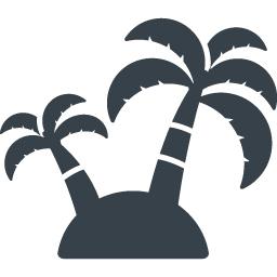 ヤシの木の無人島アイコン素材 2 商用可の無料 フリー のアイコン素材をダウンロードできるサイト Icon Rainbow