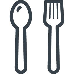 フォークとスプーンの食事のアイコン素材 2 商用可の無料 フリー のアイコン素材をダウンロードできるサイト Icon Rainbow