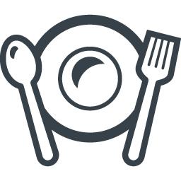 お皿とスプーンとフォークのレストランアイコン素材 2 商用可の無料 フリー のアイコン素材をダウンロードできるサイト Icon Rainbow