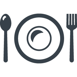 お皿とスプーンとフォークのレストランアイコン素材 4 商用可の無料 フリー のアイコン素材をダウンロードできるサイト Icon Rainbow