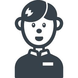 男性店員の無料アイコン素材 商用可の無料 フリー のアイコン素材をダウンロードできるサイト Icon Rainbow