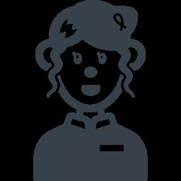 女性店員の無料アイコン素材 商用可の無料 フリー のアイコン素材をダウンロードできるサイト Icon Rainbow