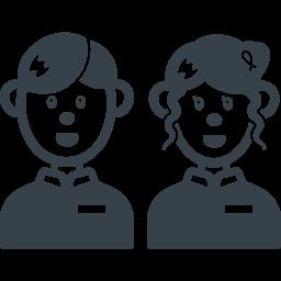 男性と女性の店員の無料アイコン素材 商用可の無料 フリー のアイコン素材をダウンロードできるサイト Icon Rainbow