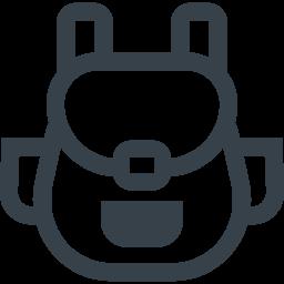 リュックサックの無料アイコン素材 2 商用可の無料 フリー のアイコン素材をダウンロードできるサイト Icon Rainbow