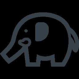 ゾウさんの無料アイコン素材 1 商用可の無料 フリー のアイコン素材をダウンロードできるサイト Icon Rainbow