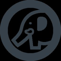 ゾウさんの無料アイコン素材 3 商用可の無料 フリー のアイコン素材をダウンロードできるサイト Icon Rainbow