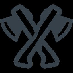 木こりの斧の無料アイコン素材 2 商用可の無料 フリー のアイコン素材をダウンロードできるサイト Icon Rainbow